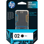 HP 02 Black Inkjet Print Cartridge (10ml)