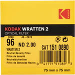 "Kodak 3 x 3"" Neutral Density (ND) #96 2.0 Optical Gelatin Wratten 2 Filter"