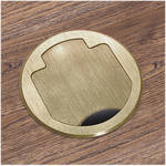 FSR T3-PC1-CP-BRS Table Box (Round Brass Cover)