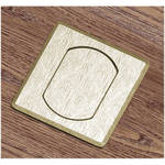 FSR T3-MJSQ-BRS Table Top Microphone Insert (Brass Square Cover)