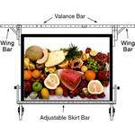 Da-Lite Adjustable Skirt Bar for 7 x 7' Fast-fold Portable Projection Screen