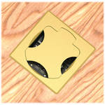 FSR T6-2LBAHW-SBC-SQBRS Table Box (Square Brass Cover)