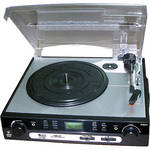 Pyle Pro PLTTB9U USB Turntable with USB/SD Card Encoder And AM/FM Radio