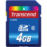 Transcend 4GB SDHC Memory Card Class 6
