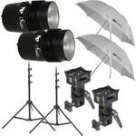 SP Studio Systems Basic 2-Light Studio Portrait Kit (120VAC)