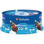 Verbatim CD-R White Inkjet/Hub Printable Disc (25)