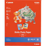 "Canon Photo Paper (Matte) - 8.5x11"" - 50 Sheets"