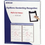 Acecad MyScript Notes DigiMemo Handwriting Recognition Software