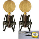 Cascade Microphones FAT HEAD Ribbon Microphone (Brown Body and Gold Grill, Lundahl LL2912 Transformer)