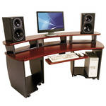 Omnirax OmniDesk Audio / Video Workstation (Mahogany)