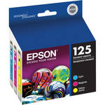 Epson T125520 125 Standard-Capacity Color Ink Cartridge Multi-Pack