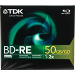 TDK BD-RE50GB Blu-Ray Re-Recordable Disc (Single with Jewel Case)
