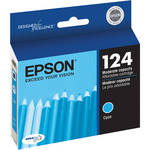 Epson 124 Moderate-Capacity Cyan Ink Cartridge