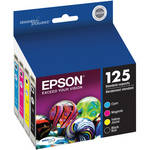 Epson T125120-BCS 125 Combo-Pack Standard Capacity Ink Cartridges (Cyan, Magenta, Black, Yellow)