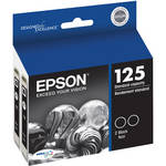 Epson T125120-D2 125 Dual (2) Pack Black Ink Cartridges for Stylus NX125, 127, 420 and Workforce 320 Printers