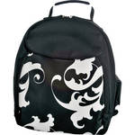 Jill-E Designs Baroque Backpack (Black with White Baroque)