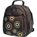 Jill-E Designs Kaleidoscope Backpack (Brown with Multi-colored Kaleidoscope)