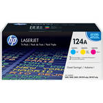 HP 124A Tri-Pack LaserJet Toner Cartridges (Cyan, Magenta, Yellow) (CE257A)