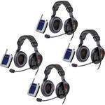 Eartec TD904 4-Person Wireless Intercom System with ProLine Double Headsets