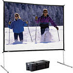 "Da-Lite 99815 Heavy Duty Fast-Fold Deluxe Projection Screen (11'6"" x 19'8"")"
