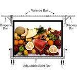 "Draper 382375 UFS Euro Format Adjustable Skirt Bar (116""x 152"")"