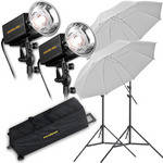 Novatron M500 2-Monolight Kit W/Wheeled Case (120VAC)