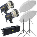 Novatron M150 2-Monolight Kit W/Wheeled Case (120VAC)
