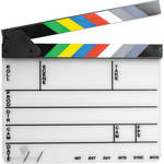 Pearstone Acrylic Dry Erase Clapboard with Color Sticks (9.25x11