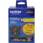 Brother LC65HYBK Innobella High Yield Black Ink Cartridge (2 Pack)