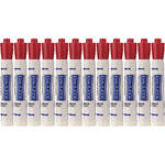 Da-Lite Dry Erase Markers (Red, 12 Markers)