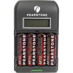 Pearstone NM-4H26LCD 4 AA NiMH Batteries with 4 Hour Charger (2600mAh,110-240V)