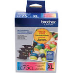 Brother Innobella High Yield XL LC75 Color Ink Cartridge 3-Pack