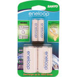 Sanyo eneloop D Spacer Pack with 2 AA Batteries