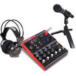 Jammin StudioPack702 7-Channel Mixer with USB Player/Recorder
