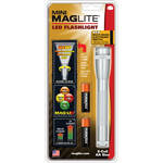 Maglite Mini Maglite 2AA LED Flashlight with Holster (Silver, Clamshell)