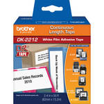 "Brother DK2212 2.4"" Black Print On White Tape (50'/15.2 m)"