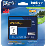 "Brother TZe354 Laminated Tape for P-Touch Labelers (Gold on Black, 0.94"" x 26.2')"