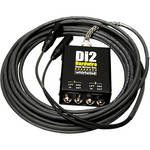 Whirlwind DI2-050-BK Di2 Hardwired Dual Direct Box with XLR Fanout (50', Black)