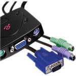 Aluratek 2-Port PS/2 KVM Switch with Cables