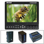 "Marshall Electronics V-LCD70XHB-HDMIPT-SL 7"" On-Camera Field Monitor with Series 7 Power Kit"