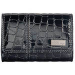 Nikon Coolpix S Series Faux Crocodile Skin Case (Black)