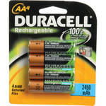 Duracell AA Rechargeable NiMH Batteries (2450mAh, 4 Pack)