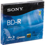 Sony BD-R Blu-Ray Recordable Disc 6x 25 GB with Slim Case (3 Pk)