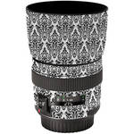LensSkins Lens Wrap for Canon 85mm f/1.8 (BW Damask)