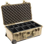 Pelican 1510 Carry On Case with Dividers (Desert Tan)