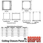 Draper 300291 Ceiling Closure Panel for Scissor Lift SL4-12 (SL-Sized, White)