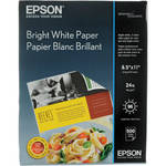 "Epson Bright White Paper (8.5 x 11"", 500 Sheets)"