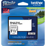 "Brother TZe261 Laminated Tape for P-Touch Labelers (Black on White, 1.4"" x 26.2')"