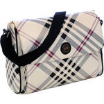 Jill-E Designs Laptop Messenger (Black/Silver Plaid)
