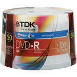 TDK PrintOn DVD-R 4.7GB 16x Recordable Disc (Spindle Pack of 50)